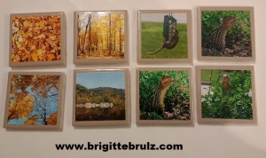 DIY picture tile coasters