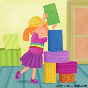 Jobs of a Preschooler- I'm a builder...