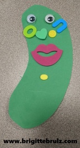 Decorated Pickle Face