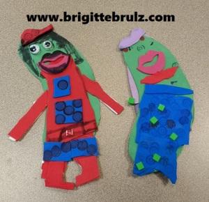 Pickle Man and Pickle Mermaid