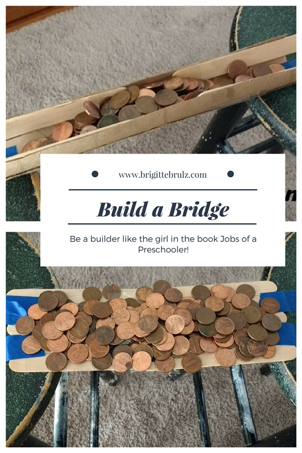 Build a bridge with items on hand.