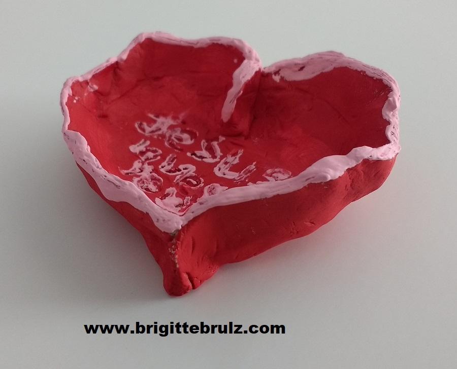 clay heart creation