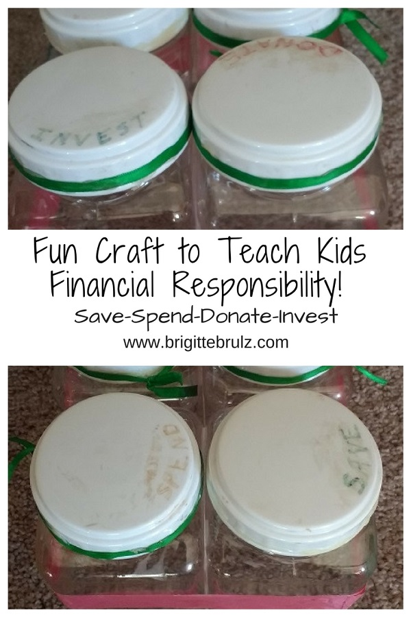 Fun craft to teach financial responsibility
