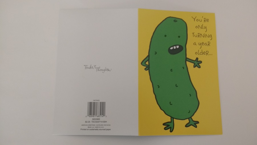 Pickle birthday card