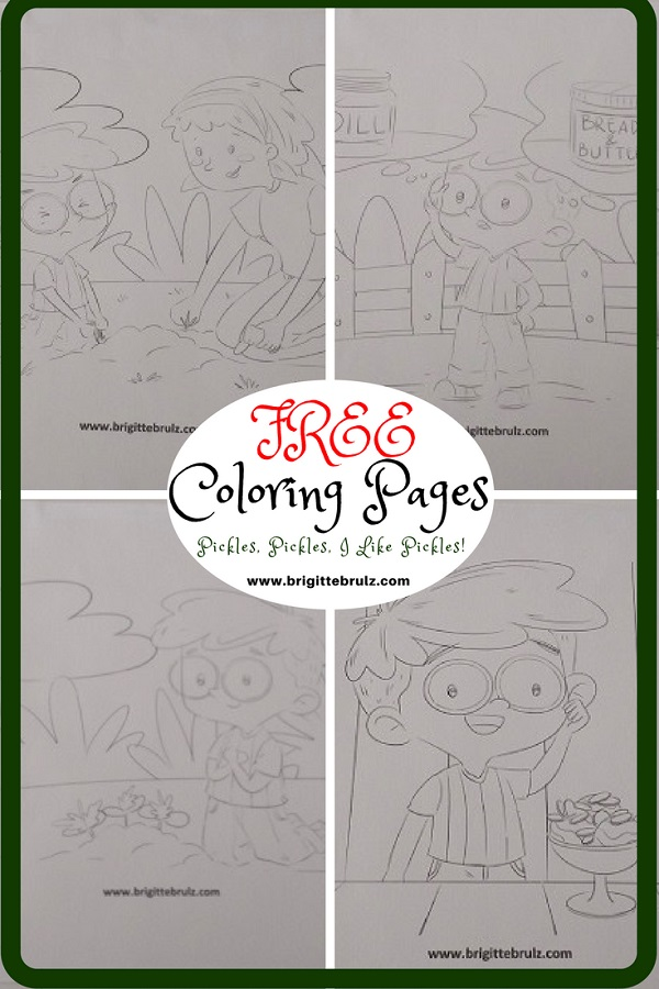 Pickles, Pickles, I Like Pickles Free Coloring Pages Available!
