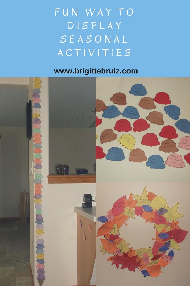 Display seasonal activities