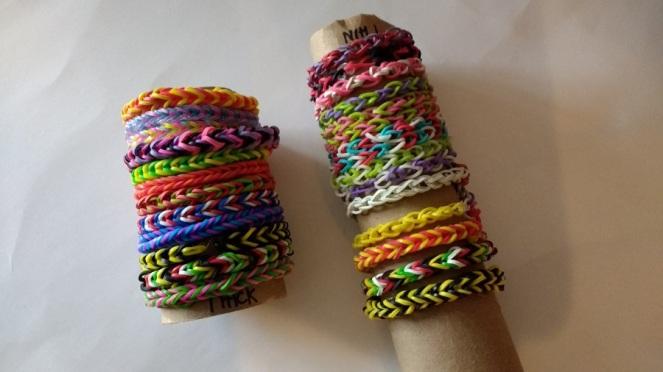 Rubberband bracelets