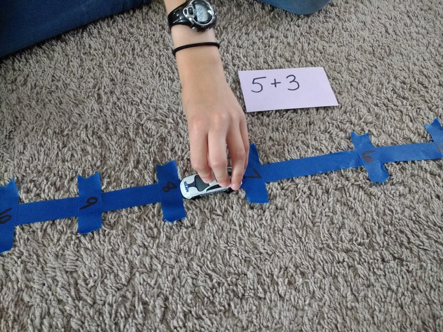 race cars to learn math facts