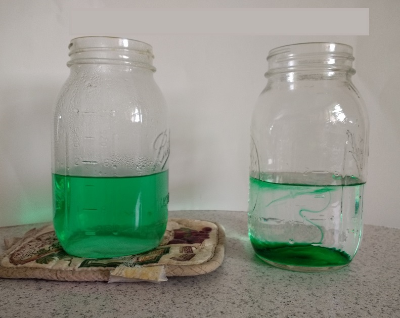 Does food coloring mix faster in cold water or hot water?