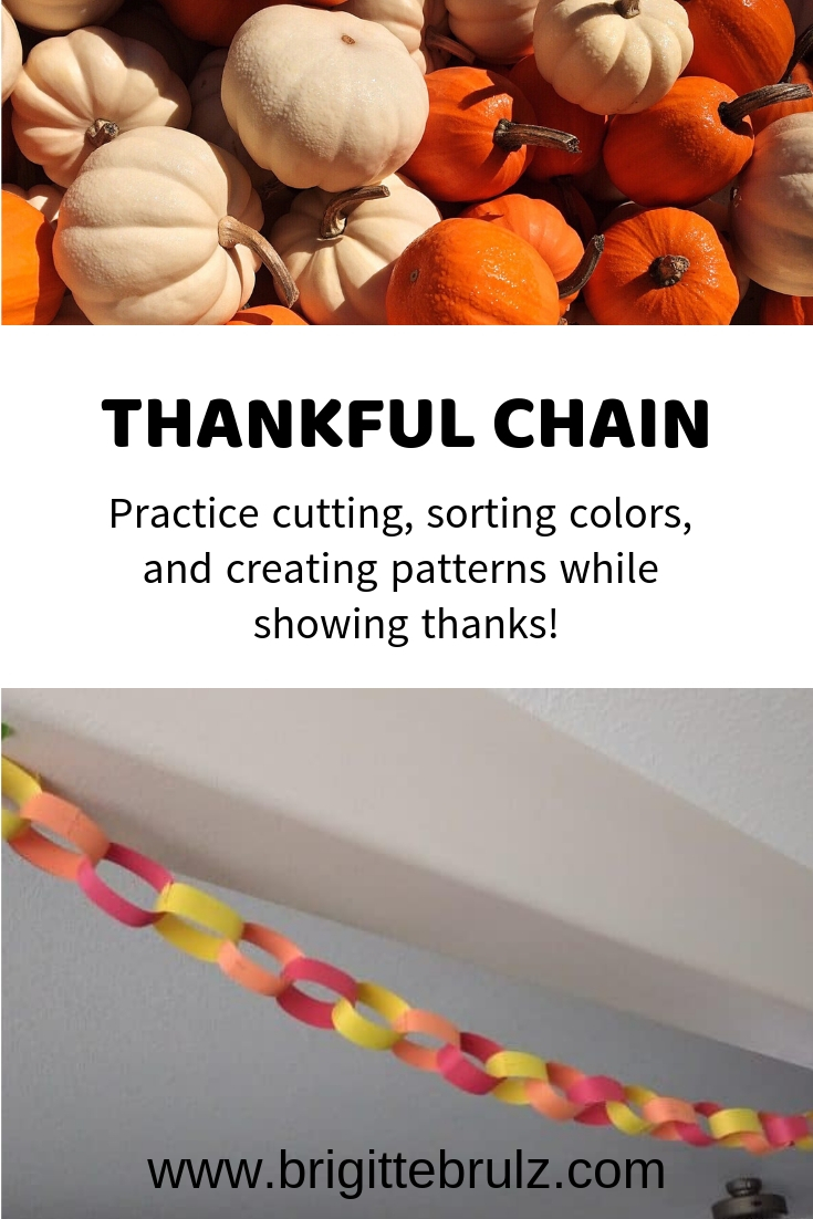Create a thankful chain to show thanks this Thanksgiving