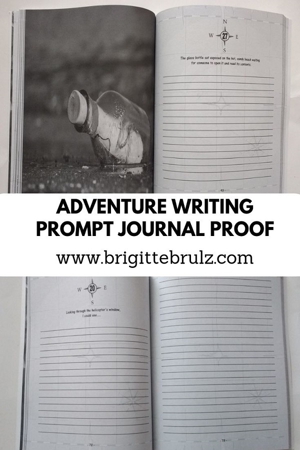 Adventure Writing Prompt Journal Proofs Arrived