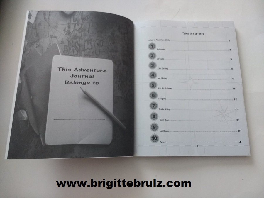 Adventure Writing Prompt Journal Sneak Peek