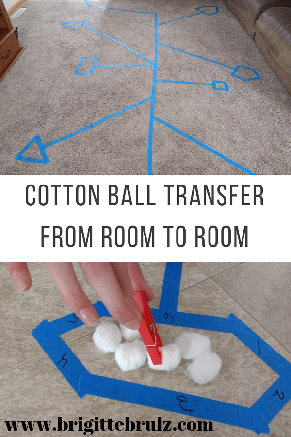 Cotton Ball Transfer From room to room