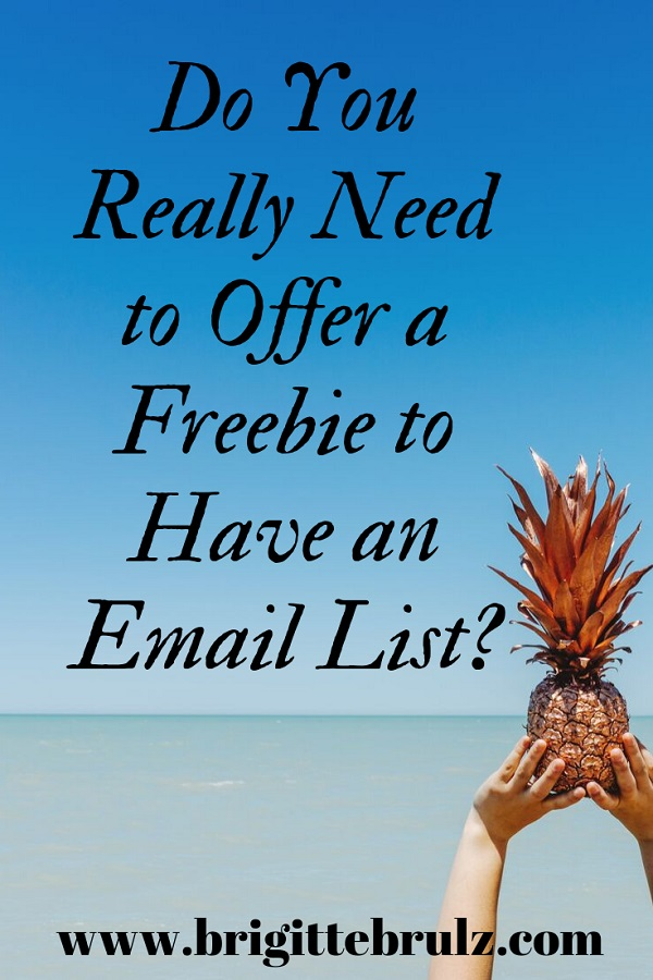 Do You Really Need to Offer a Freebie to Have an Email List