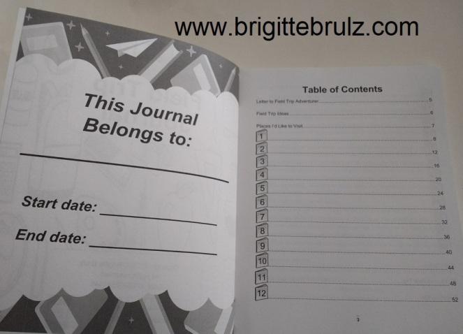 field trip journal interior