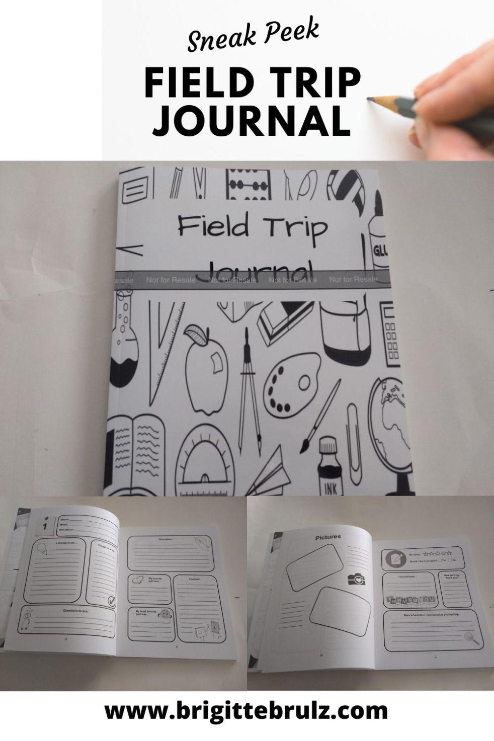 Sneak Peek Field Trip Journal