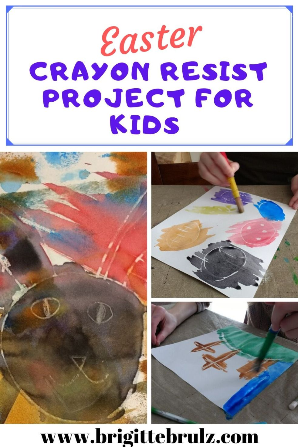 Easter Crayon Resist Project for Kids