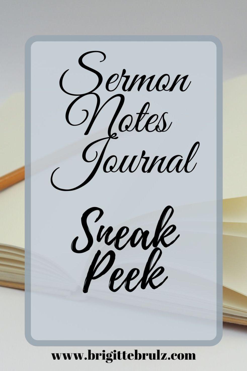 Sermon Notes Journal Sneak Peek