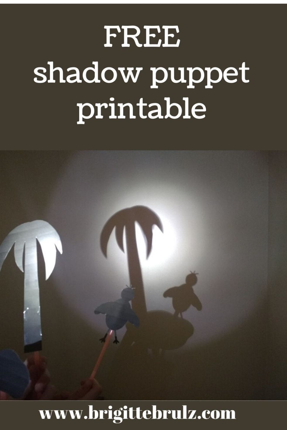 FREE shadow puppet printable